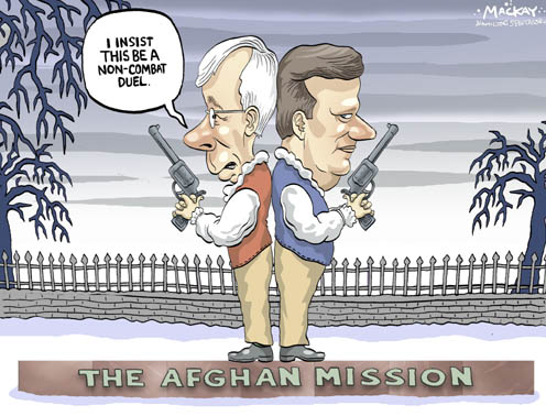 Stéphane Dion and Stephen Harper Duel Over Afghanistan Mission