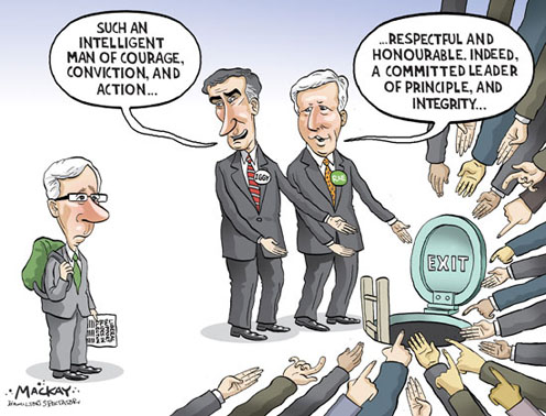 Rae and Ignatieff Praise Dion and then Show Him the Door