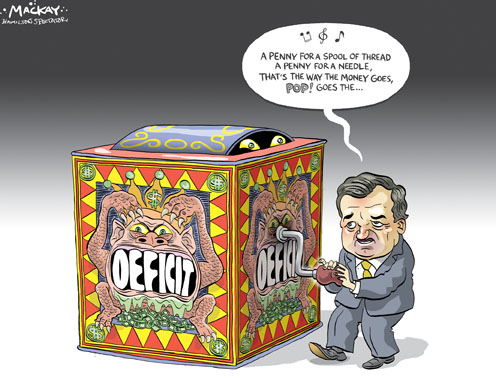 Flaherty and the Potential for a Federal Budget Deficit