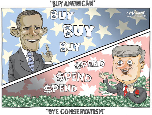 Obama Says Buy American why Harper Waves Bye to Fiscal Conservatism