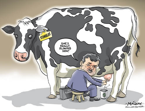 "Flaherty ""Milking"" the Federal Stimulus with Little Effect"
