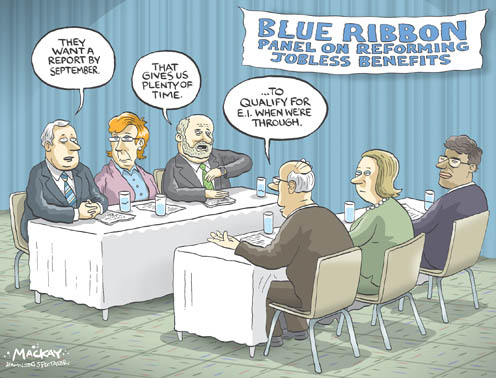 Find a political cartoon depicting Conservative Prime Minister Harper and Libera