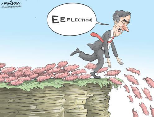 Ignatieff Blindly Runs Towards a Federal Election