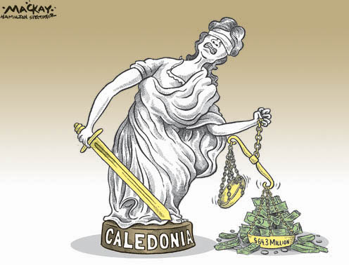 Political Cartoon - Caledonia Dispute