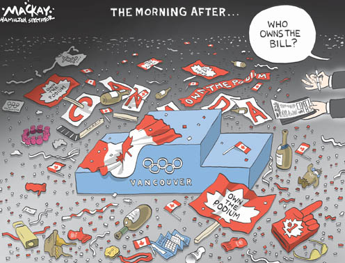 2010 Vancouver Olympics Are Over, Now Who Picks up the Bill?