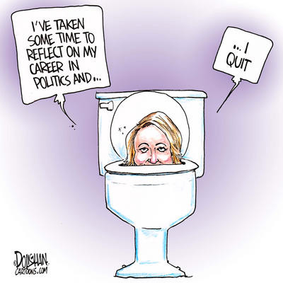 Belinda Stronach Quits Politics Political Cartoon