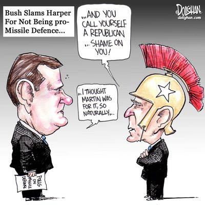 George Bush Criticizes Stephan Harper over Missile Defence