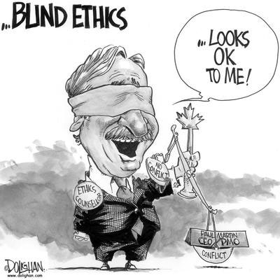 Ethics Commissioner Accountablity and Paul Martin