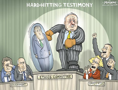 Schreiber Beats Up Mulroney during Testimony to the Ethics Committee