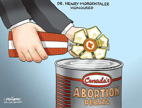 Morgentaler, the Order of Canada and Abortion Debate