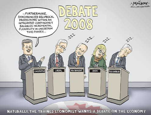 During the Leaders Debate, Will the Economy Bore all the Leaders but Harper?