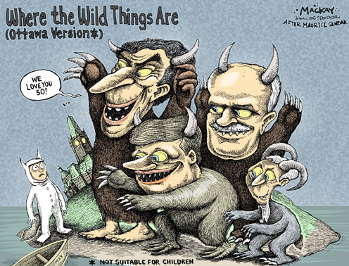 Political Cartoon - Where the Wild Things Are